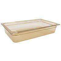 Rubbermaid 1/1 Size 100mm 13L Gastronorm GN Food Pan For Hot Food Amber