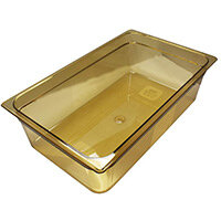 Rubbermaid 1/1 Size 150mm 19.5L Gastronorm GN Food Pan For Hot Food Amber