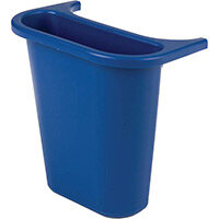 Rubbermaid Saddle Bin for Waste Separation 4.5L Blue