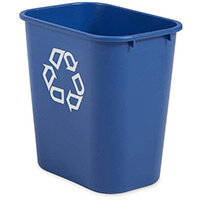 Rubbermaid 26.6L Rectangular Waste Basket Blue
