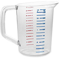 Rubbermaid Bouncer Measuring Cup 1.9L Jug Clear