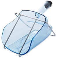 Rubbermaid 2L Ice Scoop with Hand Guard & Holder Blue