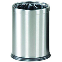 Rubbermaid Executive Series Hide-A-Bag Open-Top Waste Bin 13.2L Stainless Steel