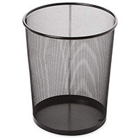 Rubbermaid 19L Concept Collection Round Steel Mesh Open Top Waste Basket Black