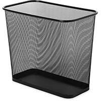 Rubbermaid 28.4L Concept Collection Steel Mesh Open Top Waste Basket Black