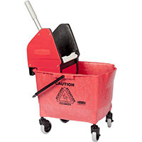 Rubbermaid 25L Combo Bravo Mop Bucket with Wringer Red