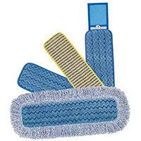 Rubbermaid HYGEN Microfiber Wet Mop Head With Scrubbing Strips 40cm Blue