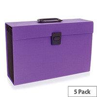 Rexel Joy Expanding Box File Perfect Purple 2104020