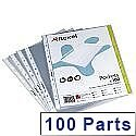 Rexel Premium Top Opening Punched Pockets A5 Pack of 100