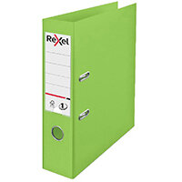 Rexel Choices 75mm Lever Arch File Polypropylene A4 Green 2115504