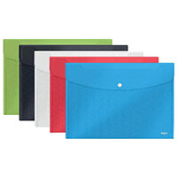 Rexel Choices Popper Wallet A4 and Foolscap Assorted Pack of 5 2115672