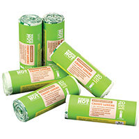 Waste Not Compostable Caddy Liner Bag 20 per Roll Pack of 6 10629