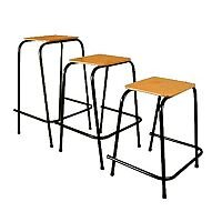 Student Stool Stackable 525mm High #SSC