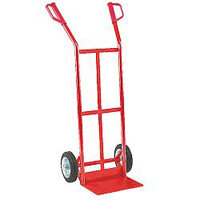General Purpose Red Hand Truck With Rubber Wheels Capacity 125Kg 308076