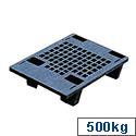 Pallet Plastic Recycled Black Pallete Capacity 500kg