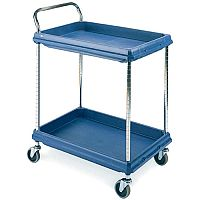 Deep ledge trolleys with 2 blue shelves 832 x 546mm 2-Tier Blue 322442