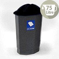 Paper Recycling Bin Bank Black/Granite 75L SBY14621