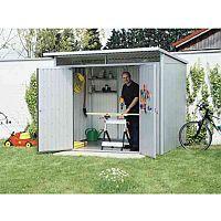 VFM Large Metallic Garden Storage Shed 2600x2200x2180mm WxDxH 370780