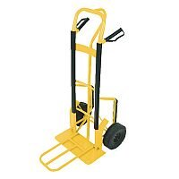 Hand Truck Steel/Polyurethane Yellow 250 kg Capacity Folding Foot-iron 388908