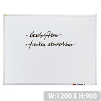 Franken ValueLine Whiteboard Plastic Coated Surface 1200x900mm SC3003