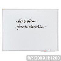 Franken ValueLine Whiteboard 1200 x 1200 mm Aluminium Frame SC3019