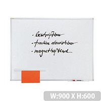 Franken Magnetic Whiteboard ValueLine 900x600mm Lacquered Steel White SC3102