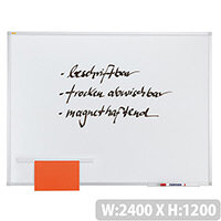 Franken ValueLine Magnetic Whiteboard Lacquered Surface 2400x1200mm SC3106
