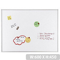 Franken ECO Magnetic Whiteboard Lacquered Steel 450 x 600mm White SC4112