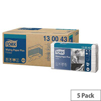 Tork M-Folded Wiper/Cloth Wiping Sheets Blue 200 Sheets in 5 Sleeves (1000 Wipers) 130043