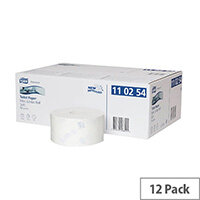 Tork T2 System Mini Jumbo Dispenser Toilet Rolls White 170m Pack of 12 110254