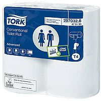 Tork T4 Conventional Toilet Paper Dispenser Refills Rolls White 320 Sheet (Pack of 36) 472150