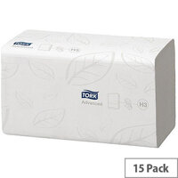 Tork Flushable Hand Towel Single I Fold 2 Ply 250 Towels Per Sleeve 15 Sleeves (3750 Sheets) 290190
