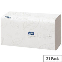 Tork Xpress Multifold Paper Hand Towels 2 Ply 180 Towels Per Sleeve 21 Sleeves White (3780 Sheets) 120225