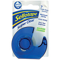 Sellotape Super Clear Tape and Dispenser 18mmx15m Pack of 7 1766006
