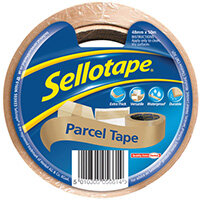 Sellotape Brown Parcel Tape 48mmx50m Pack of 8 1760686