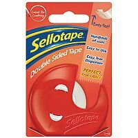 Sellotape Double-Sided Tape and Dispenser 15mm x5 Metres
