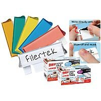 Filertek Fit-All Dry Erase Suspension File Tabs 50 Assorted