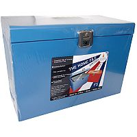 Cathedral Metal File Box Foolscap Blue HOBL