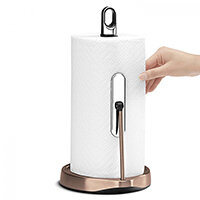 Simplehuman Kitchen Roll Holder Tall Tension Arm, Rose Gold Steel KT1178