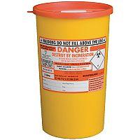 St John Ambulance Clinical Sharps Waste Bin 5 Litre Yellow F78022 H285 x W175mm