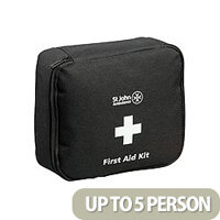 St John Ambulance Motor Vehicle First Aid Kit – High Quality, BS8599-2, Suitable For Motor Environments, Durable, Compact, Zipped, Well-Stocked & Medium Size For 1-8 People (F30801)