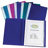 Snopake Display Book Electra A3 24-Pocket Assorted Pack of 5 14103