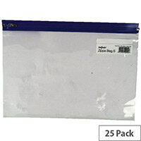 Snopake Zippa Bag A4 Plus Blue Pack 25 12804