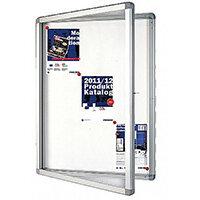 Franken Display Case ECO Outdoor Magnetic Whiteboard 12 x A4 SK12SE
