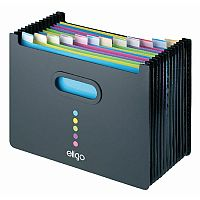 Snopake Eligo Desk Expander 13 Part Landscape Black. Ideal For Any Shelf Or Desk With Limited Space. Made From Strong Polypropylene. Suitable For Any Office, School, College, Home & More.