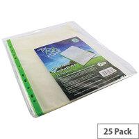 Snopake Bio Punched Pocket A4 Clear 60 Micron Pk 25 15439