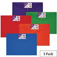 Snopake Polyfile ID Wallet A4 Rainbow 15787