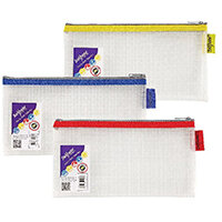 Snopake EVA Mesh Zippa-Bag 133 x 245mm Assorted Pack of 3 15817