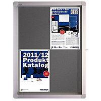 Franken Display Case ECO Outdoor Felt Grey 4 x A4 SK4PTE12