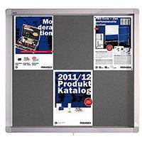 Franken Display Case ECO Outdoor Felt Grey 6 x A4 SK6PTE12